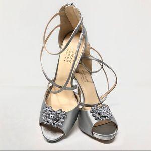 Badgley Mischka American Glamour Jewel Heels sz 10